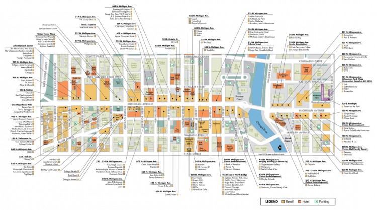 Michigan Avenue Retail Map Toolbox Inc